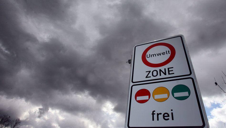 """Umweltzonen-Schild: """"Atemluft zu stark belastet"""""""