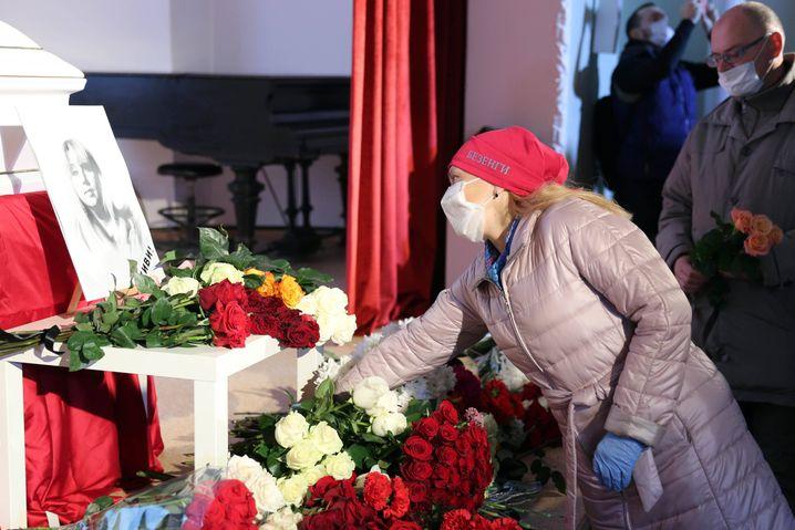 Abschied von Irina Slawina in Nischnij Nowgorod