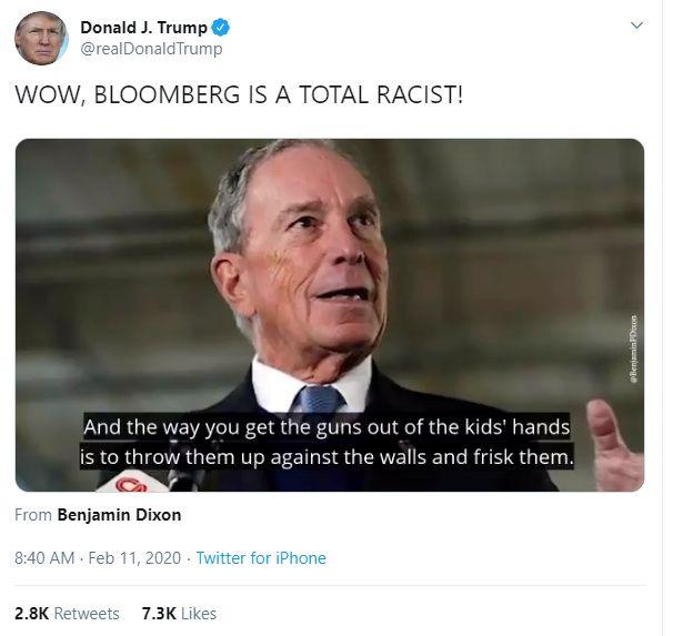 Gelöscht, aber wirksam: Trumps Bloomberg-Tweet