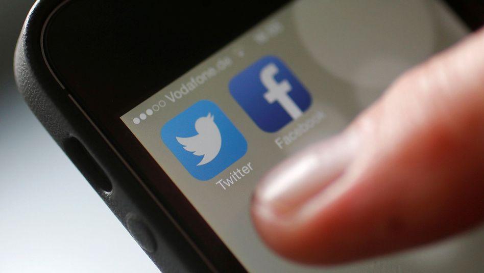 Apps von Twitter und Facebook