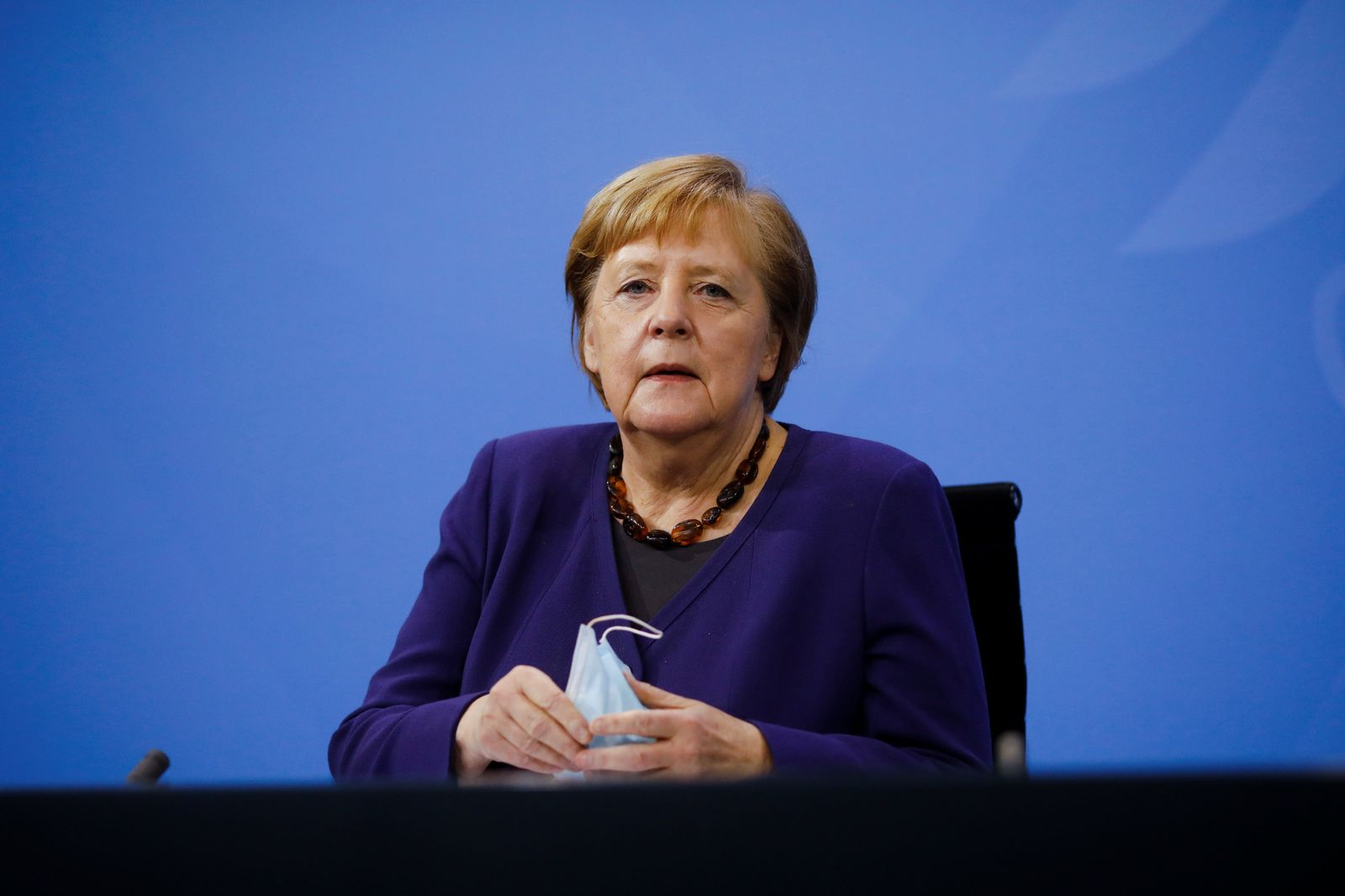 News conference following talks with state leaders at the Chancellery in Berlin