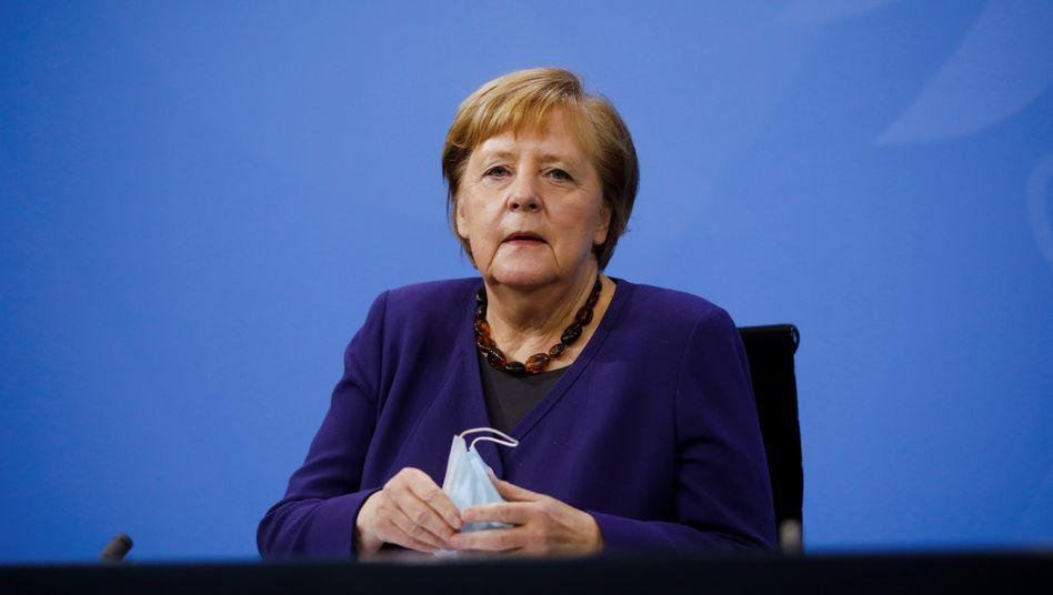 Angela Merkel am Mittwoch bei der Pressekonferenz