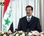 Schickt viel Geld nach Palästina: Iraks Diktator Saddam Hussein
