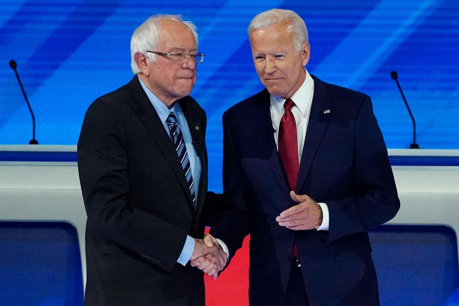 Wahlkampf in den USA - Sanders und Biden