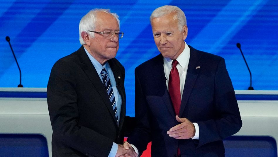 Sanders und Biden Ende 2019 in Houston