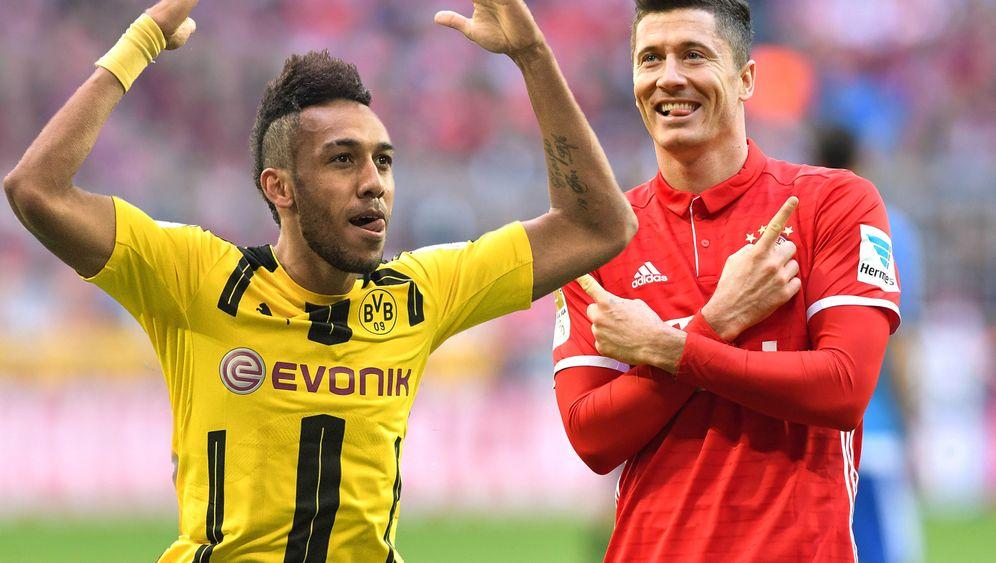 Aubameyang vs. Lewandowski: Duell der Mittelstürmer