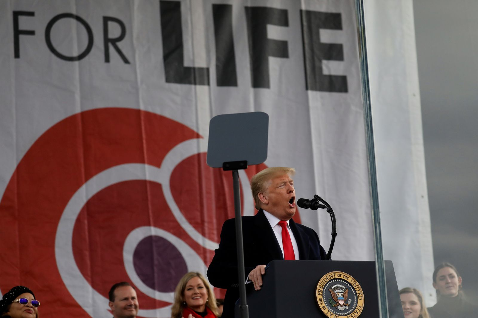 U.S. President Trump addresses the 47th annual March for Life in Washington