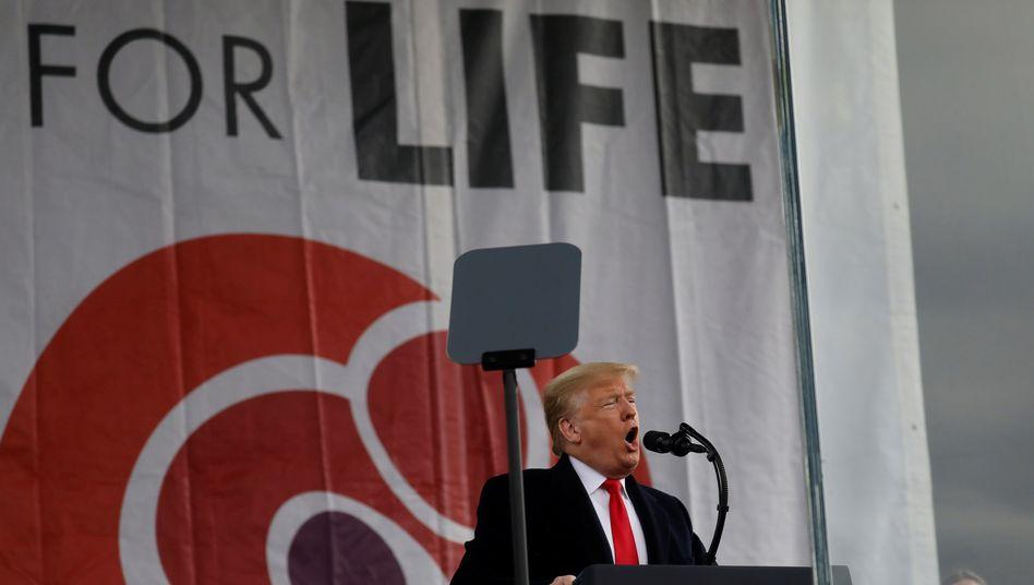 Wahlen: Trump wirbt bei Großdemonstration von Abtreibungsgegnern um konservative Basis