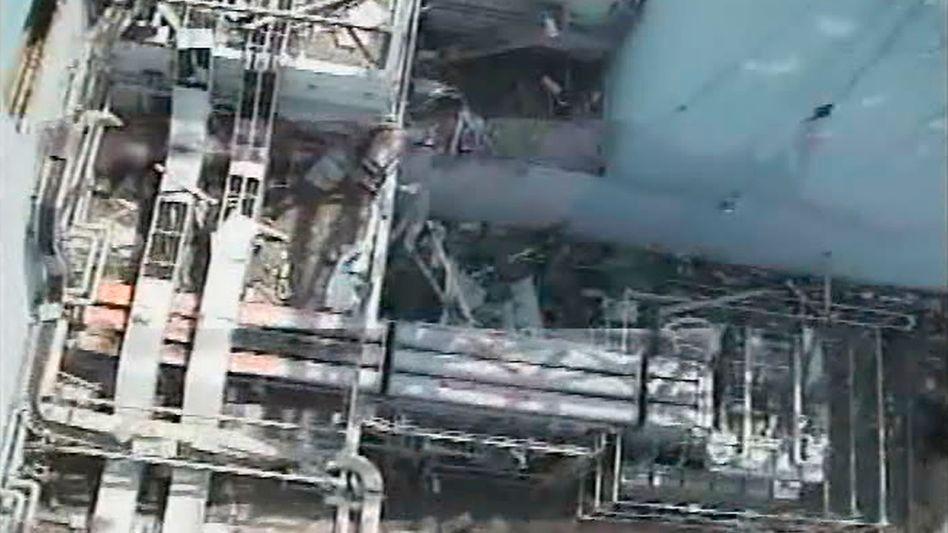 AKW-Ruine Fukushima: Blick auf den zerstörten Reaktorblock 1