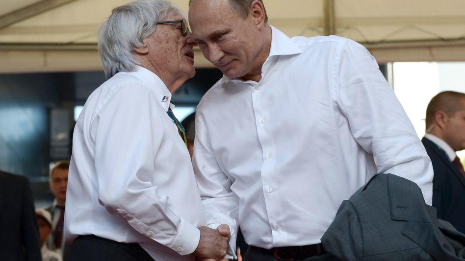 """Rennboss Ecclestone, Präsident Putin: """"Finde dieses kapitalistische System gut"""""""
