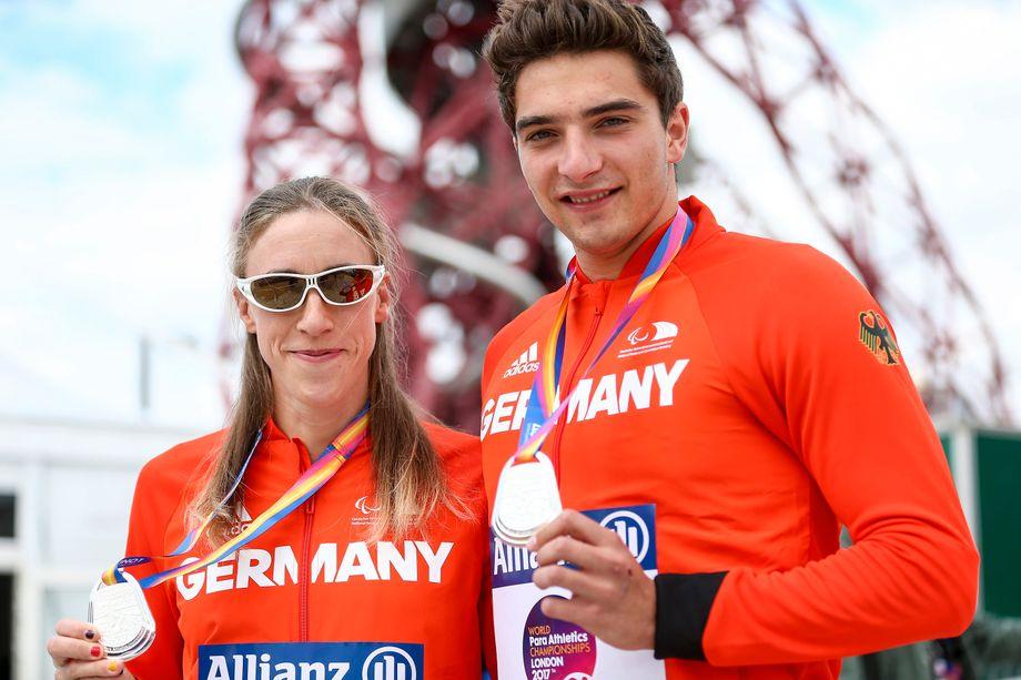 Müller-Rottgardt und Fiener gewannen 2017 Silber bei den Leichtathletik-Weltmeisterschaften der Behinderten in London