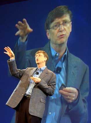 Da geht's lang: Zum Thema MSIE 7 ließ Bill Gates nur ein paar Sätze fallen. Es reichte, um weltweit Tech-Schlagzeilen zu machen