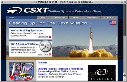 """Civilian-Space-Homepage: """"Liebe zur Raketentechnik"""""""