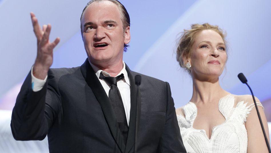 Quentin Tarantino und Uma Thurman