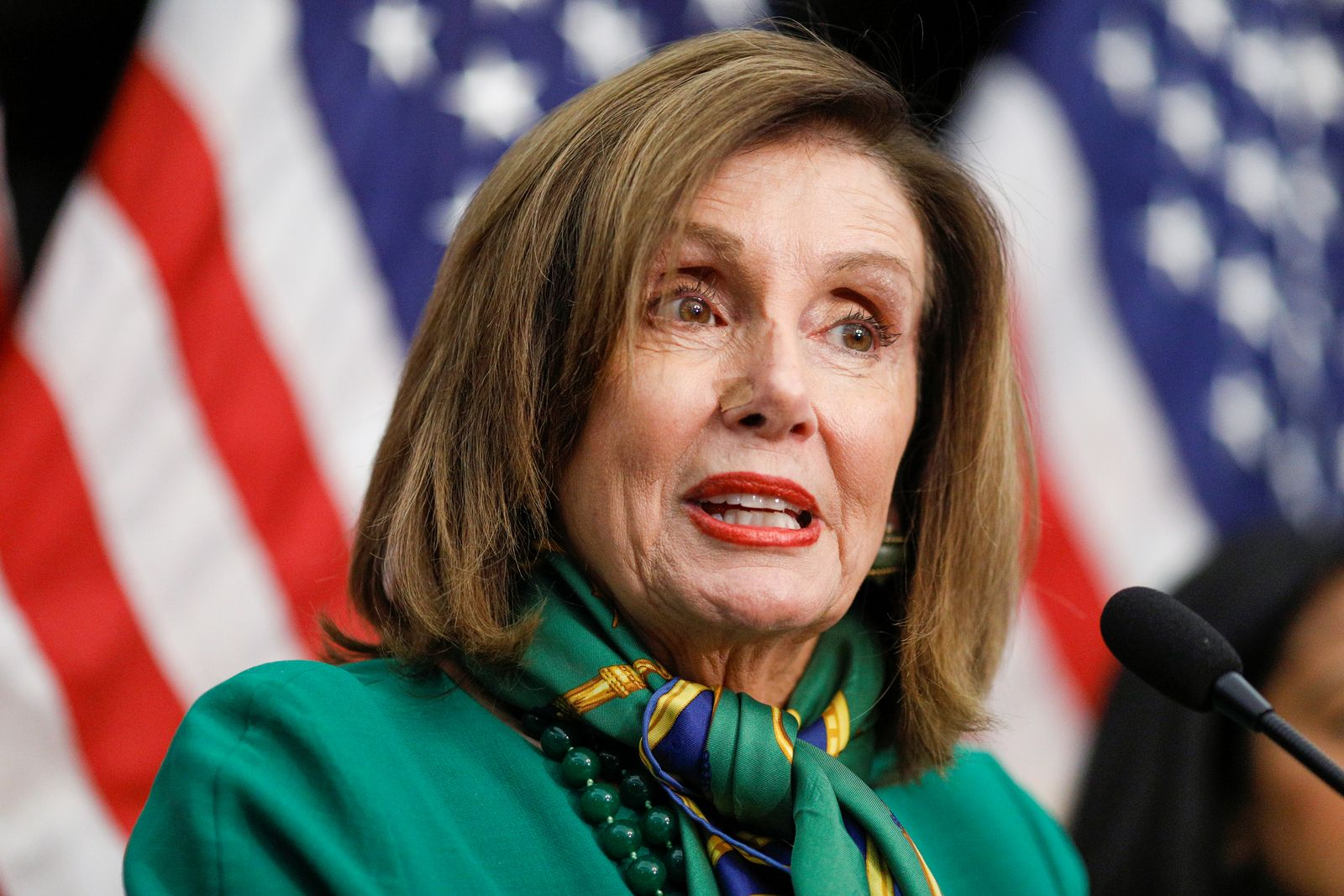 House Speaker Nancy Pelosi addresses a news conference on Capitol Hill in Washioington