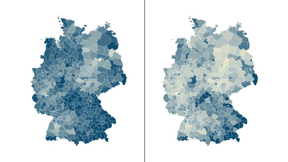 Unterschiedliche Mobilitätsaktivitäten der Deutschen, März vs. April