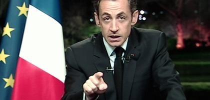 Ansprache von Sarkozy: 2,6 Milliarden Euro für die Opfer der Wirtschaftskrise