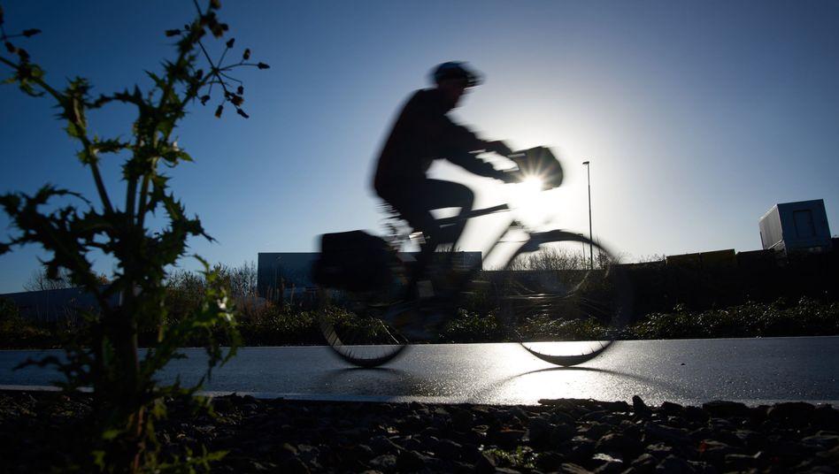 Radfahrer in Mülheim an der Ruhr