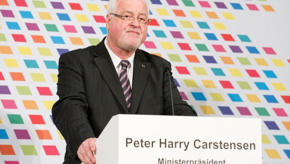 Schleswig-Holsteins Ministerpräsident Carstensen: Ärger mit dem Datenschützer
