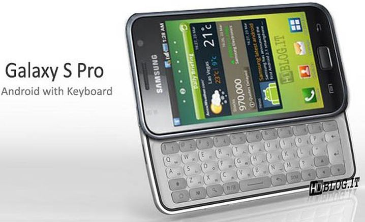 Samsungs Galaxy S Pro: Mit QWERTY-Tastatur?