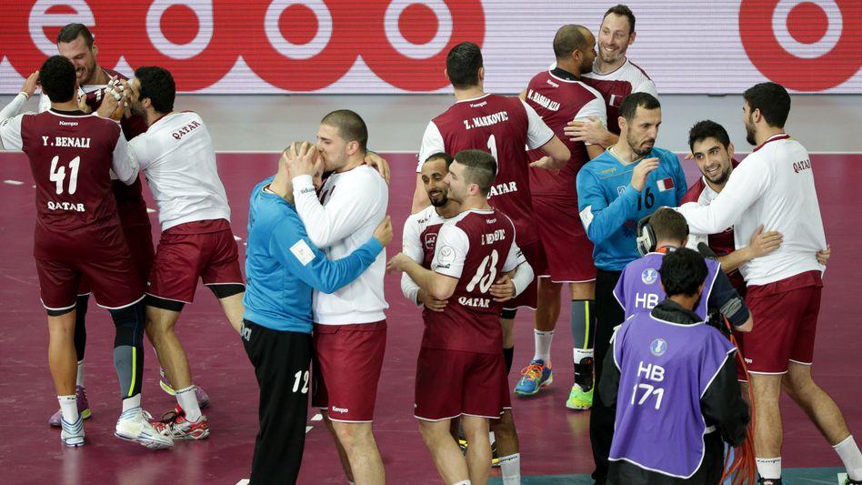 """Jubelnde Spieler von Katar: """"Das ist vielleicht zu erwarten"""""""