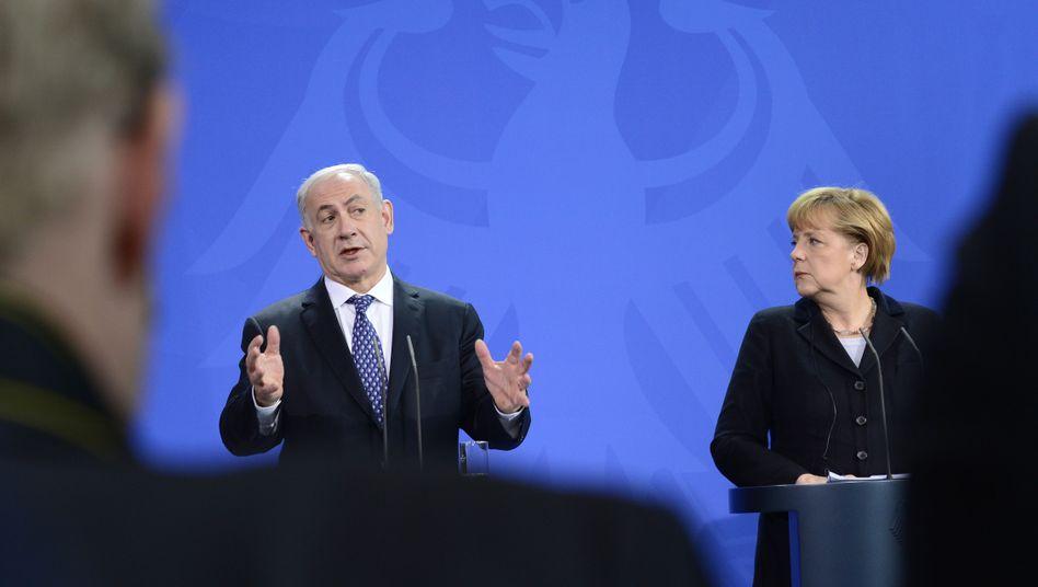 """Israels Premier Netanjahu, Kanzlerin Merkel: """"Tief empfundene Freundschaft"""""""