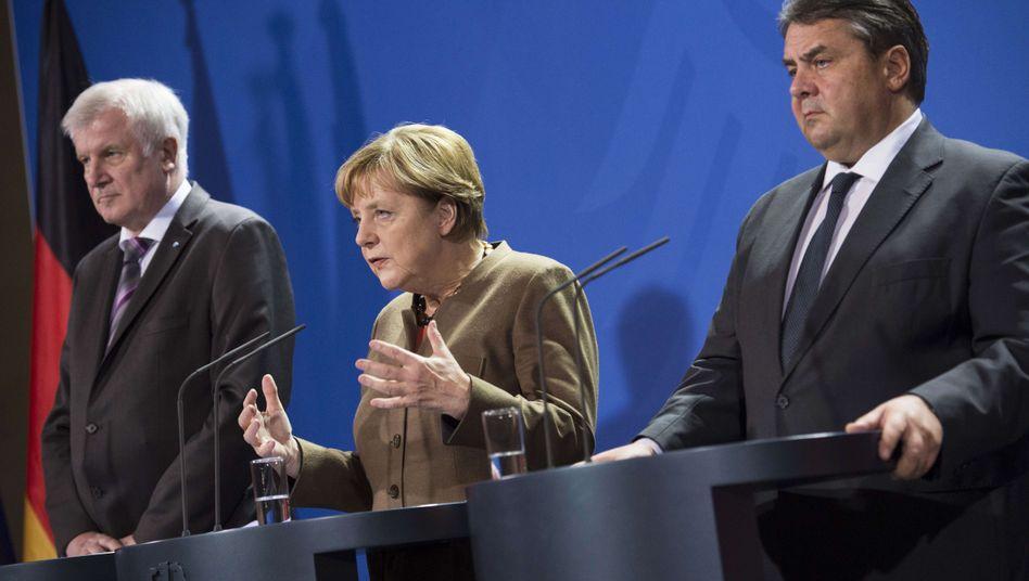 Gipfel in Berlin: Koalition einigt sichauf Registrierzentren für Flüchtlinge