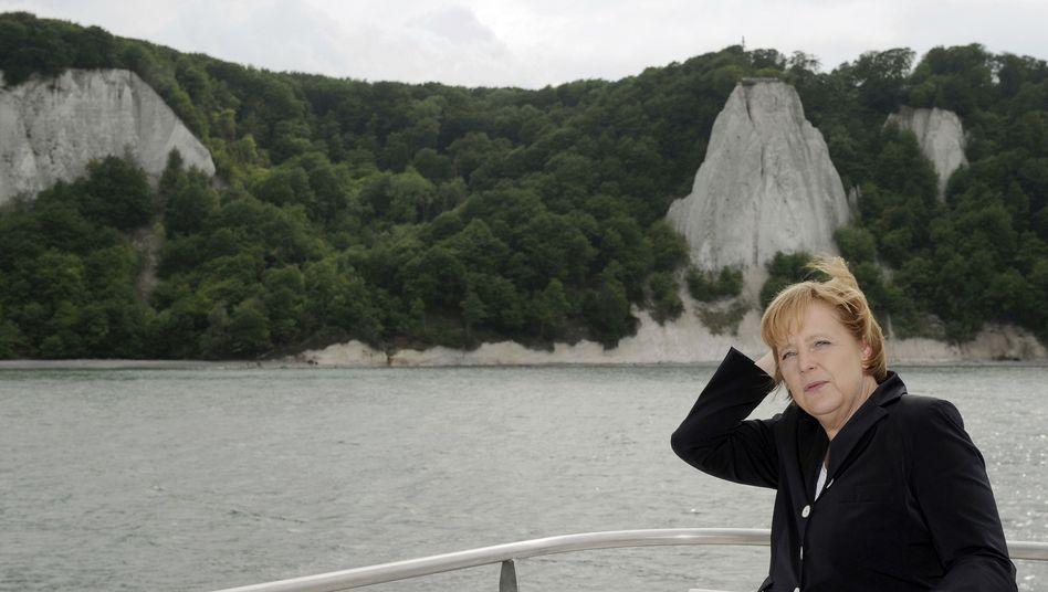 Merkel am Samstag vor Rügen: Kurze Stippvisite mit Norwegens Kronprinzenpaar