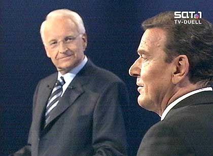 Duell Schröder-Stoiber: Unentschlossene Wähler sollen überzeugt werden