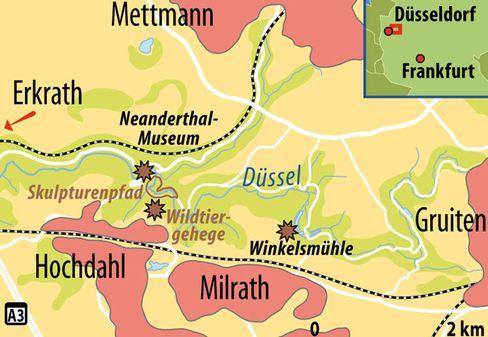 Zwischen Erkrath, und Gruiten: Das Neandertal ist von Düsseldorf aus schnell erreicht