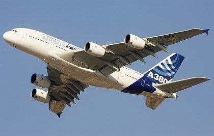 The Airbus A380 finally took off in 2007.