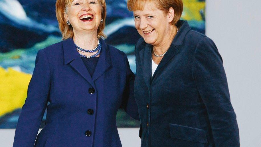Außenministerin Clinton, Kanzlerin Merkel