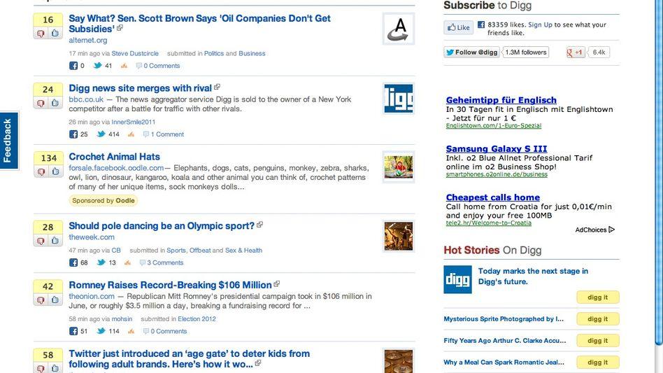 Digg.com: Rapider Preisverfall des einstigen Stars