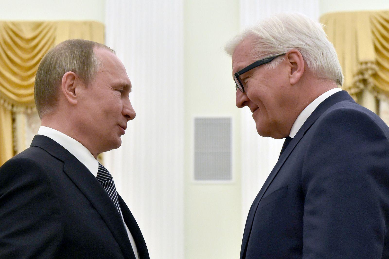 Putin Steinmeier/ Steinmeier trifft Putin