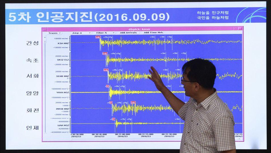 Erdbeben- und Vulkanforscher Ryoo Yong-gyu vom Korea Monitoring Division Director