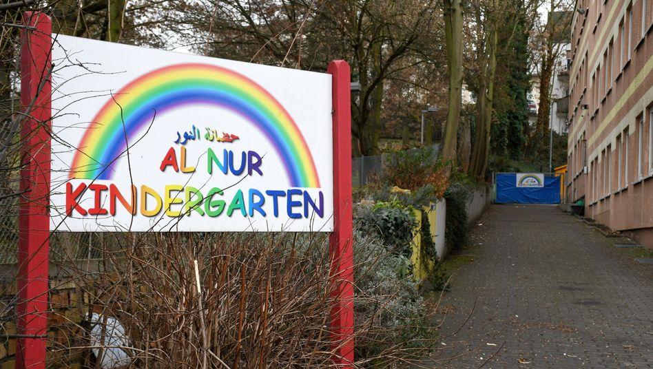 Der Eingang des Al-Nur-Kindergartens in Mainz
