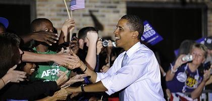 Wahlkämpfer Obama: In den meisten Swing States ist er an McCain vorbeigezogen