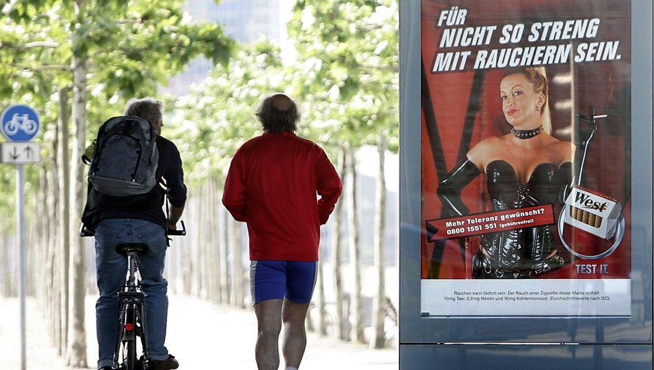 Tabakwerbung in Düsseldorf