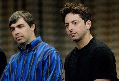 """Google-Gründer Page (links) und Brin: """"Sie duschen selten."""""""