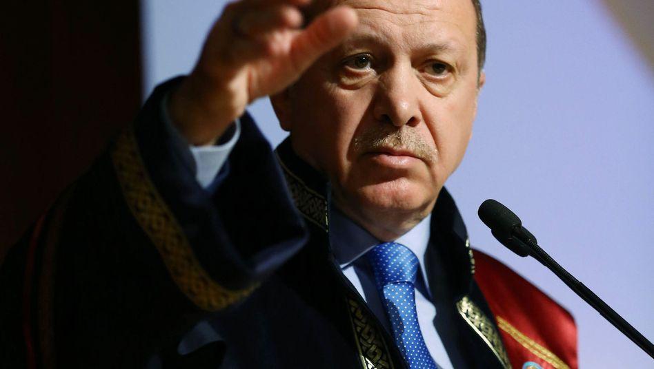 """Türkischer Präsident Erdogan: """"Eine klare Provokation"""""""