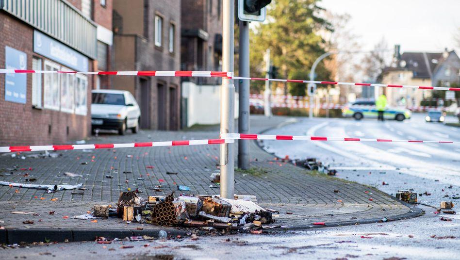 Absperrband an Tatort in Bottrop