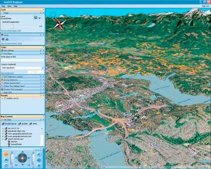 Maps with information about groundwater distribution in Seattle, created using software by ESRI.