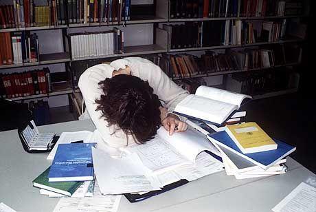 Student vor der Prüfung: Alles umsonst?