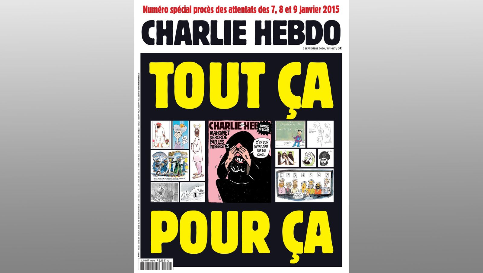 Charlie Hebdo Ausgabe 02.09.20
