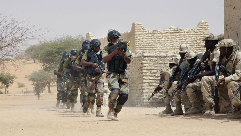 Afrikanische Soldaten aus mehreren Ländern rücken nun gegen Boko Haram vor (hier bei einer gemeinsamen Übung)