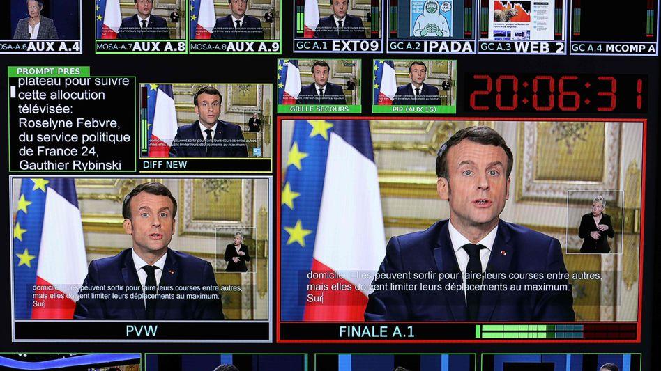 """Präsident Macron wendet sich an die Nation: """"Einziger Kompass ist die Humanität"""""""