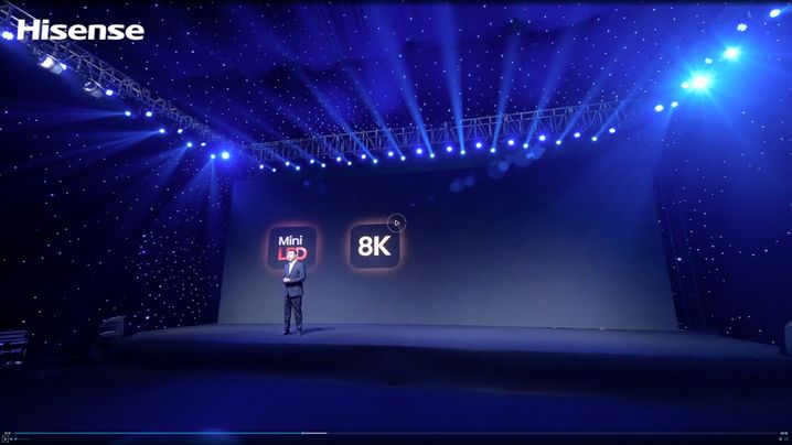 Internet-Show auf der großen Bühnen: Hisense-Pressekonferenz