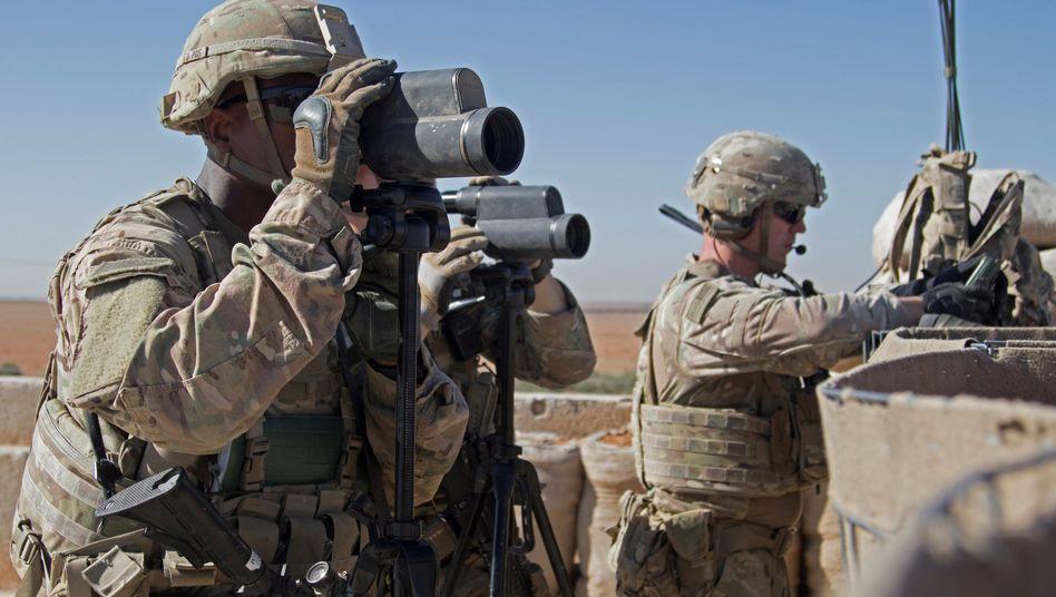 US-Soldaten im nordsyrischen Manbidsch (November 2018)