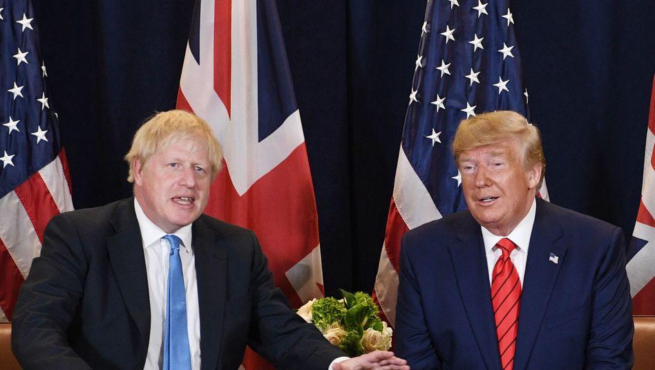 Boris Johnson (l.) und Donald Trump während der Uno-Vollversammlung 2019