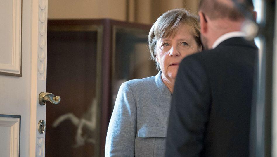 Kanzlerin Merkel, SPD-Chef Martin Schulz